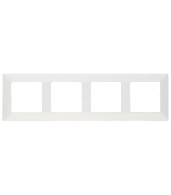 Рамка четырехместная универсальная Legrand Valena LIFE белый legrand рамка valena белая четырехместная