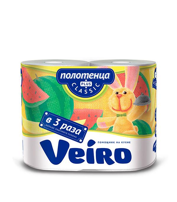 все цены на Полотенце бумажное двуслойное Veiro Big Roll  2 рулона онлайн