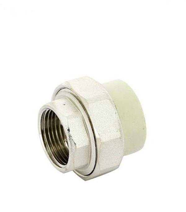 Муфта полипропиленовая FV-PLAST (236040) разъемная (американка) 40 мм х 1 1/4 ВР(г) серая