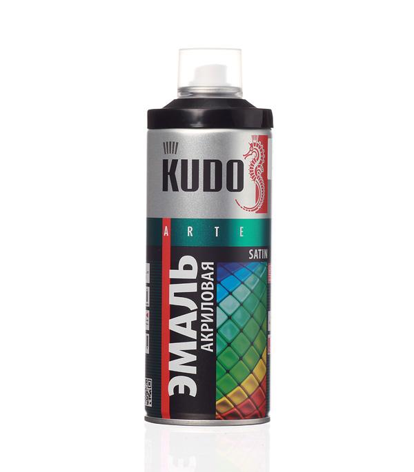 Эмаль акриловая аэрозольная Kudo satin Ral 9005 черная 520 мл