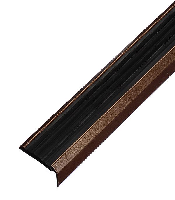 Порог для кромок ступеней 37,5х23х900 мм с резиновой вставкой Медь стоимость