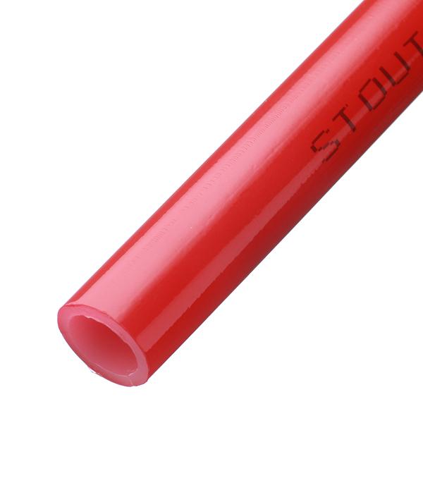 цена на Труба для теплого пола Stout Pex-a 16х2 мм красная бухта 200 м