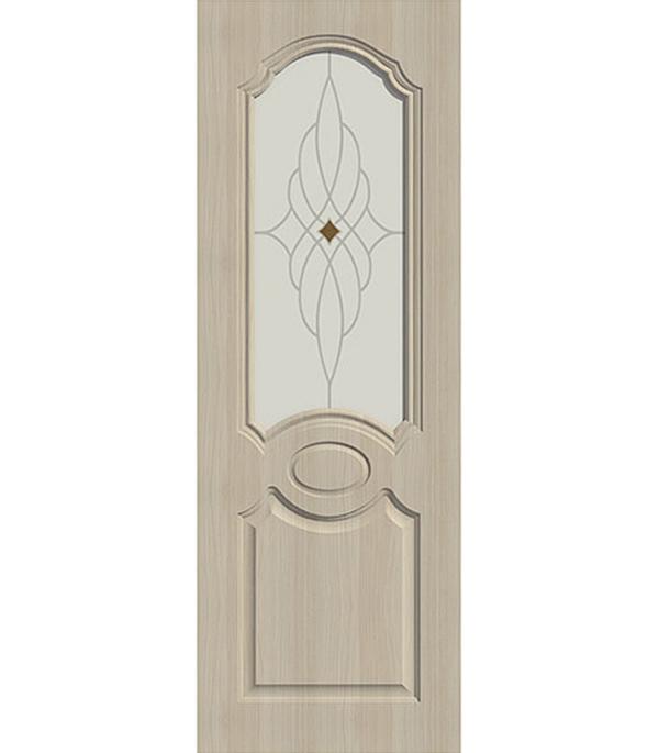Дверное полотно экошпон Aфина беленый дуб мелинга 9М 800х2000 мм со стеклом без притвора esschert design дверная ручка молоток tt183