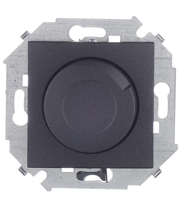 Регулятор напряжения поворотно-нажимной 500Вт 230В винтовой зажим графит Simon 15