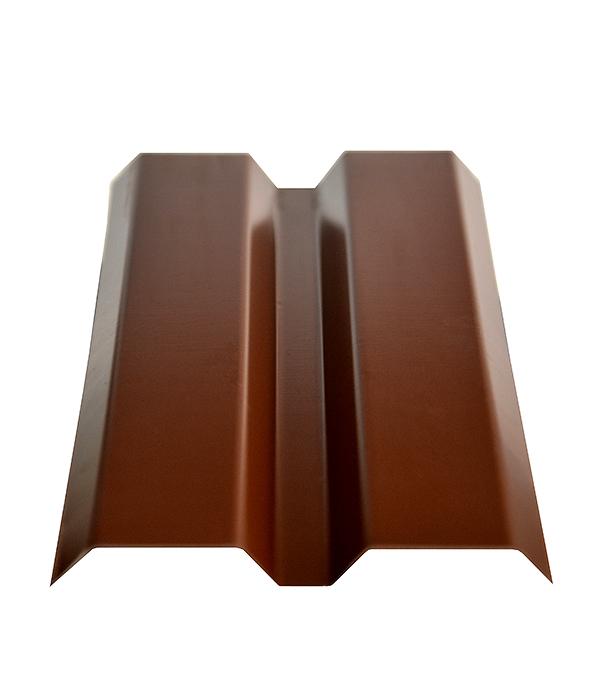 Евроштакетник толщина 0,4 мм 87х1500 мм коричневый
