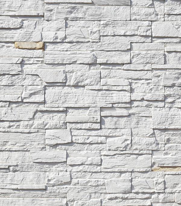 Искусственный камень Monte Alba Каскад Рейндж белый (16 шт=0.39 кв.м)