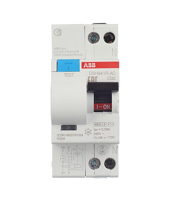 Дифференциальный автомат 1P+N 32А тип C 30 мА 4.5 kA ABB DSH941R автомат 3p 63а тип с 6 ka abb s203