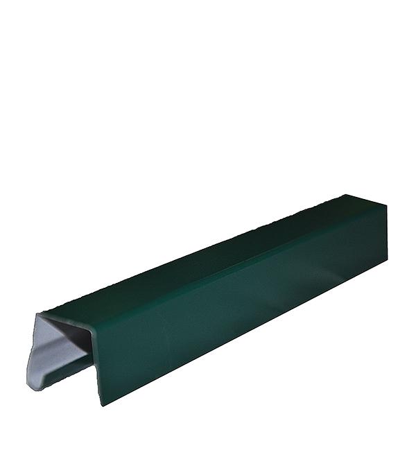 Планка заборная П-образная 10х30х2000 мм зеленая RAL 6005 планка карнизная для металлочерепицы 80х100 мм 2м зеленая ral 6005