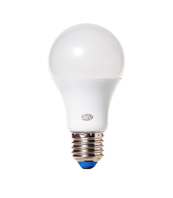 Лампа светодиодная E27 7W A60 2700K, теплый свет, REV лампочка rev led a60 e27 7w 2700k 32264 1