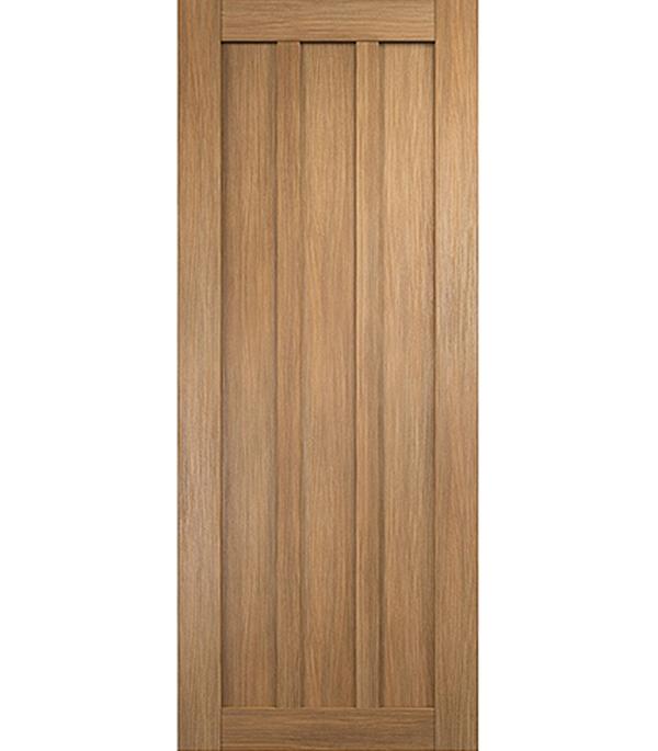 Дверное полотно экошпон Интери 3-0 золотой дуб 600х2000 мм глухое без притвора
