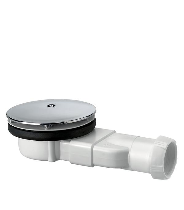 Купить Сифон для душевого поддона белый Слим 90 мм, выход 40, Полистирол/сталь