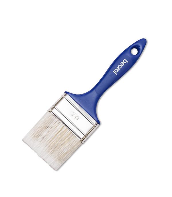 Кисть плоская Beorol смешанная щетина пластиковая ручка 70 мм поло print bar пламя