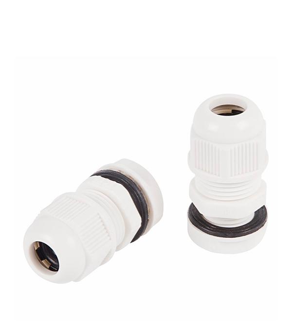 Сальник Rexant MG 25 для кабеля диаметром 13-18 мм пластиковый IP68 белый (2 шт.)