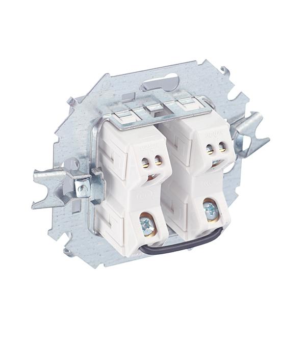 Выключатель без рамки Simon 15 1591398-033 двухклавишный скрытая установка алюминий фото
