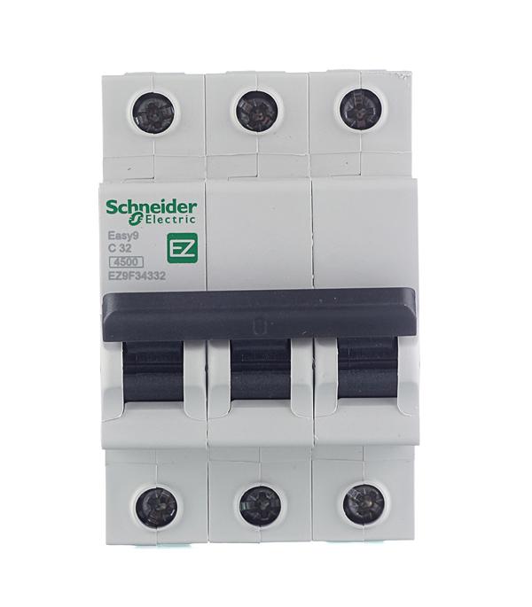 Автомат 3P 32А тип С 4.5 kA Schneider Electric Easy9 автомат 1p 6а тип с 4 5ка schneider electric easy9