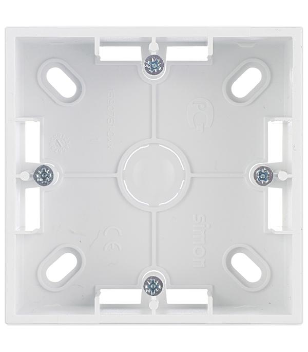 Монтажная коробка для накладного монтажа 1 пост белый Simon 15 монтажная коробка legrand plexo 1 пост белый 69689