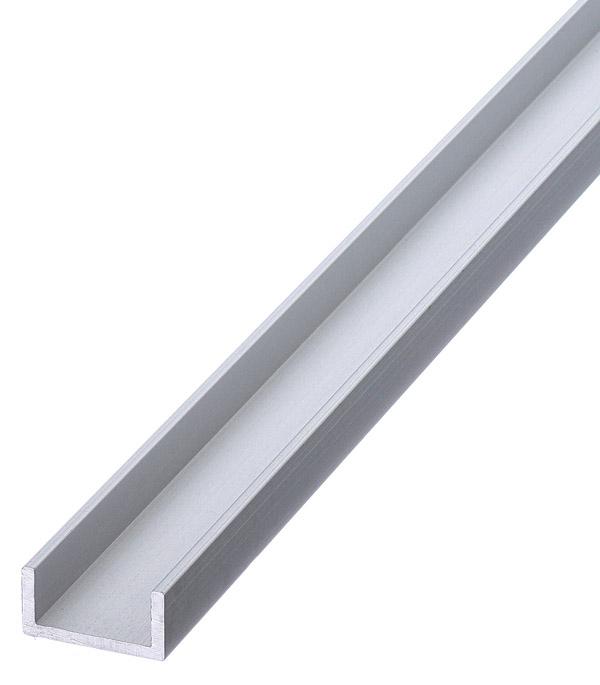 Профиль алюминиевый U-образный 10х20х10х2х1000 мм анодированный фото