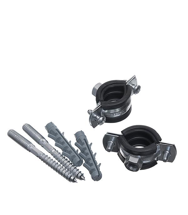 цена на Хомут сантехнический 1/2 оцинкованная сталь со шпилькой и дюбелем (2 шт.)