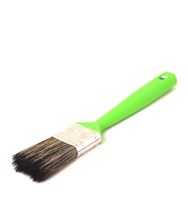 Кисть плоская Стандарт смешанная щетина пластиковая ручка 35 мм кисть плоская 60 мм натуральная щетина прорезиненная ручка hardy стандарт