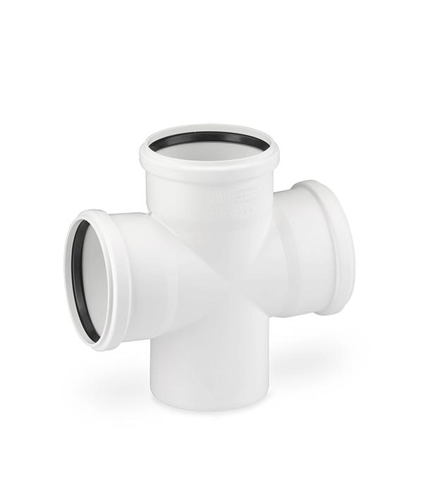 Крестовина Rehau Raupiano Plus d110х110х110 мм 87° пластиковая шумопоглощающая одноплоскостная для внутренней канализации