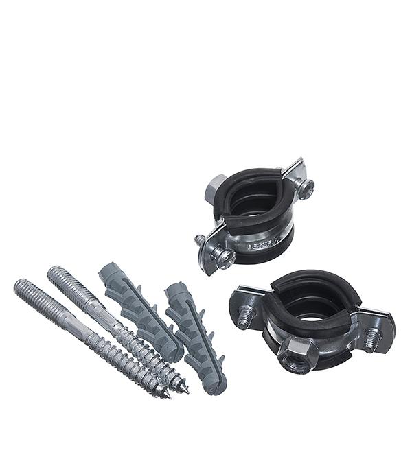 цена на Хомут сантехнический 3/8 оцинкованная сталь со шпилькой и дюбелем (2 шт.)