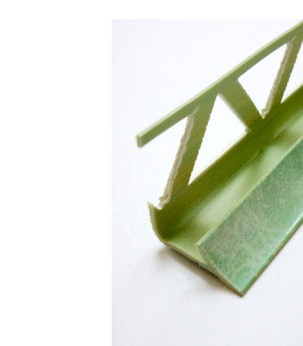 Уголок ПВХ для кафельной плитки внутренний 9х2500мм зеленый кимберлит уголок пвх rico moulding 20х20х2700мм бук натуральный