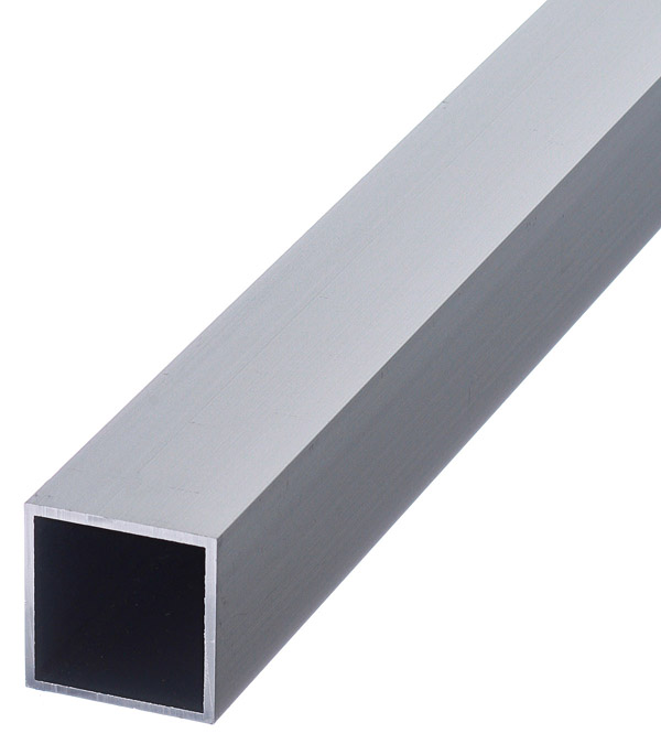 Трубка алюминиевая квадратная 25х25х1.5х2000 мм анодированная фото