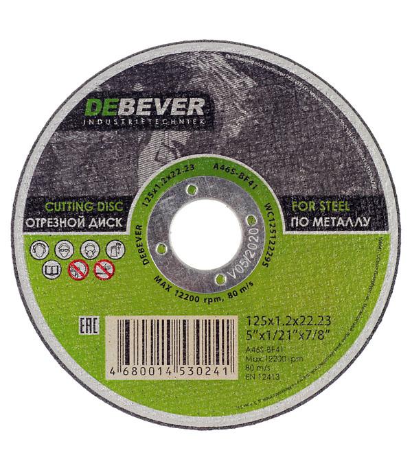 Круг отрезной по металлу 125х22х1,2 DEBEVER круг отрезной по нержавеющей стали 125х22х1 2 debever