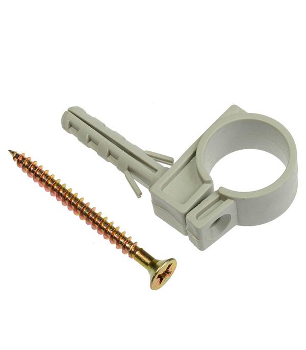 лучшая цена Хомут сантехнический 16-18 мм пластик с дюбелем для крепления трубы (5 шт.)