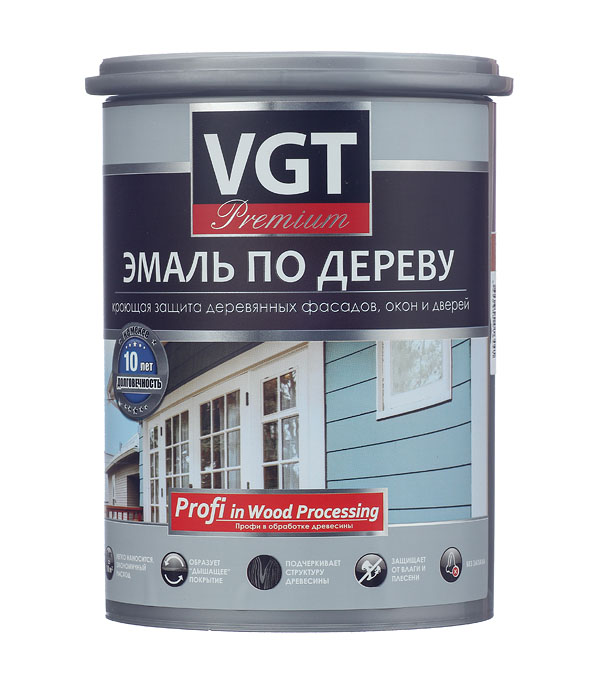 Эмаль акриловая по дереву Профи кофейная VGT 1 кг эмаль акриловая матовая синяя vgt 1 кг