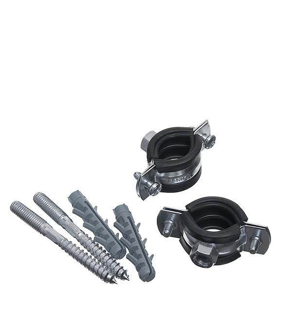 цена на Хомут сантехнический 1 оцинкованная сталь со шпилькой и дюбелем (2 шт.)