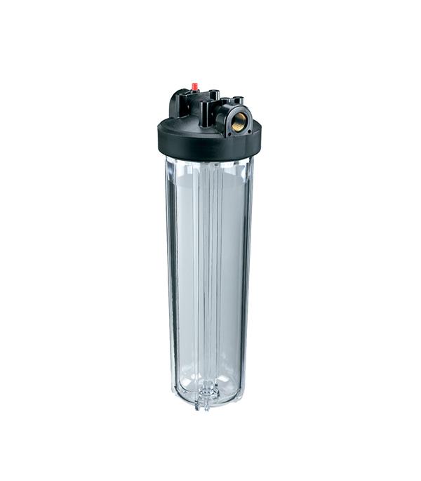 Купить Корпус фильтра для холодной воды 1 Гидротек прозрачный 20BB (HСC-20BB)