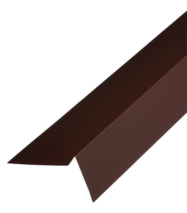 Торцевая планка для гибкой черепицы 100х65 мм 2 м коричневая RAL 8017 стоимость
