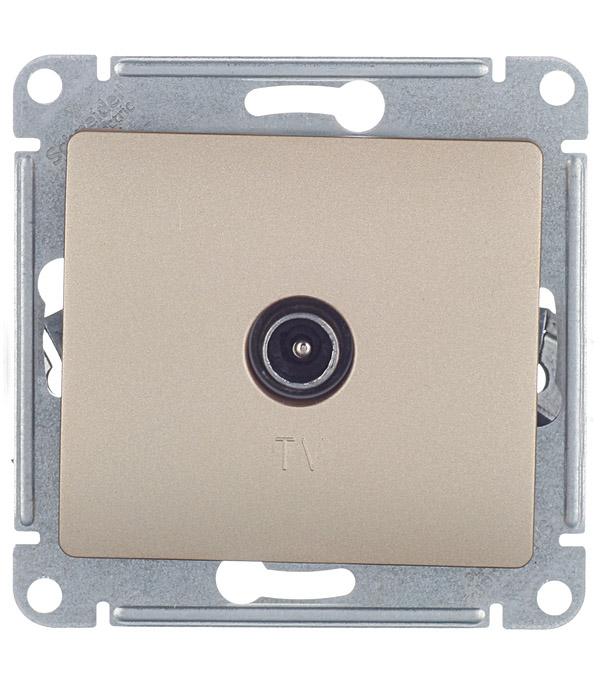 Механизм розетки телевизионной с/у Schneider Electric Glossa титан цена