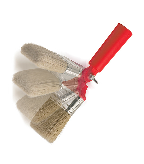 Кисть плоская угловая Beorol натуральная щетина пластиковая ручка 63 мм все цены