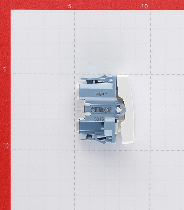 Выключатель Simon 27 27104-64 одноклавишный скрытая установка белый узкий модуль с подсветкой фото
