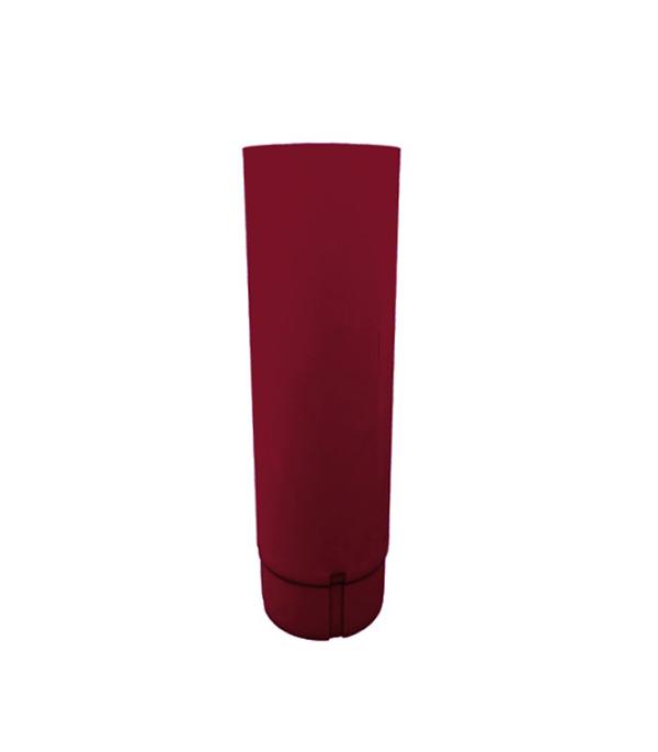 Купить Водосточная труба металлическая Grand Line d90мм 1 м красное вино, Красное вино, Металл