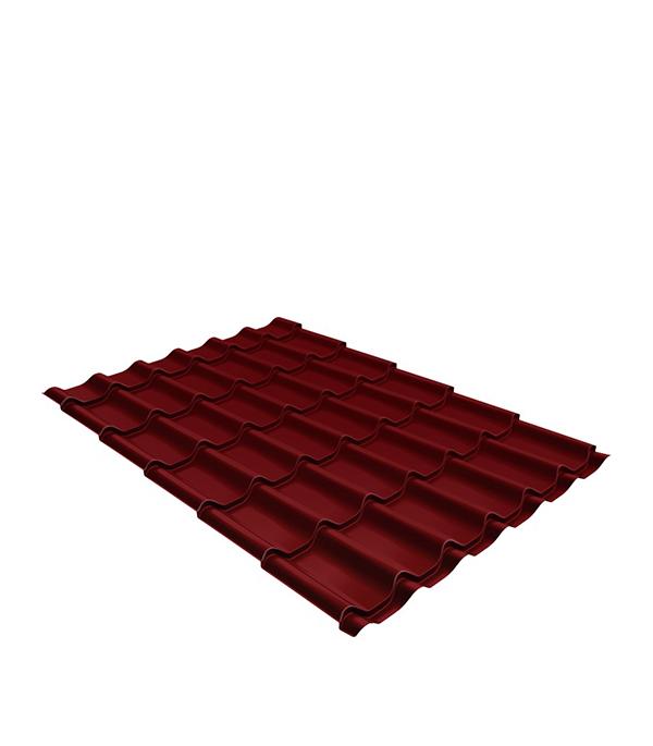Металлочерепица 1,18х1,15 м толщина 0,5мм Satin красное вино RAL3005