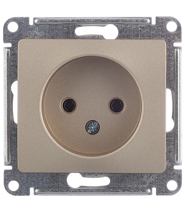 Механизм розетки без заземления с/у Schneider Electric Glossa титан цены