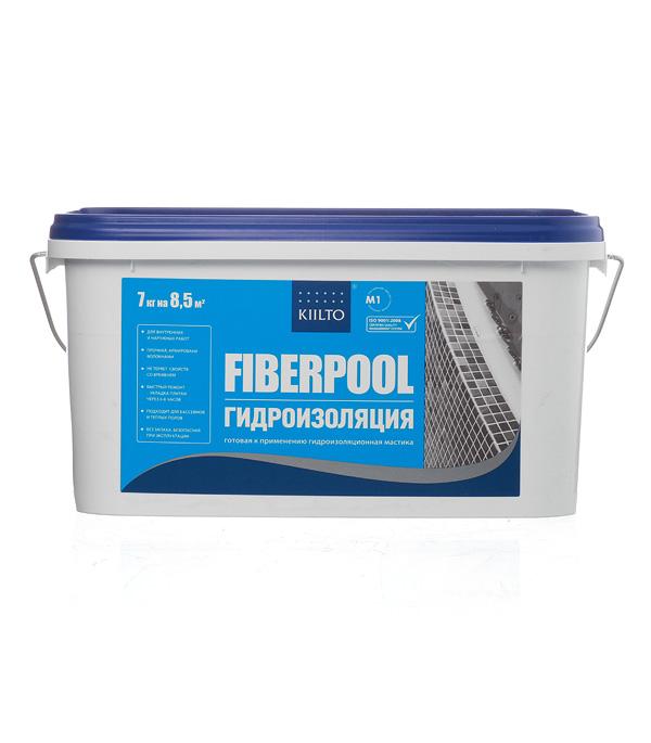 Купить Гидроизоляционная мастика KIILTO Fiberpool 7 кг, Зеленый