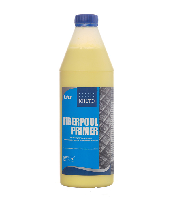 Грунт KIILTO Fiberpool Primer 1 л грунт под гидроизоляцию kiilto fiberpool primer 1л