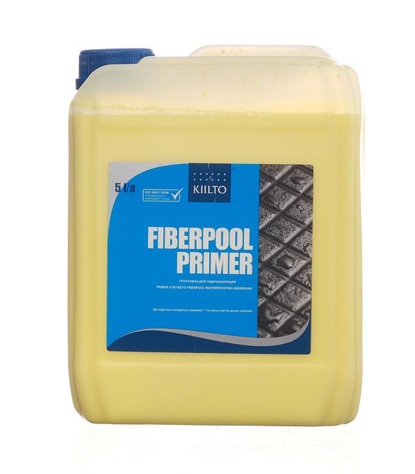 Грунт KIILTO Fiberpool Primer 5 л грунт под гидроизоляцию kiilto fiberpool primer 1л