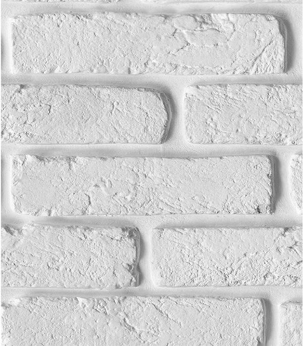 Панель ПВХ Nordside термопечать Кирпич белый 250х2700х8 мм