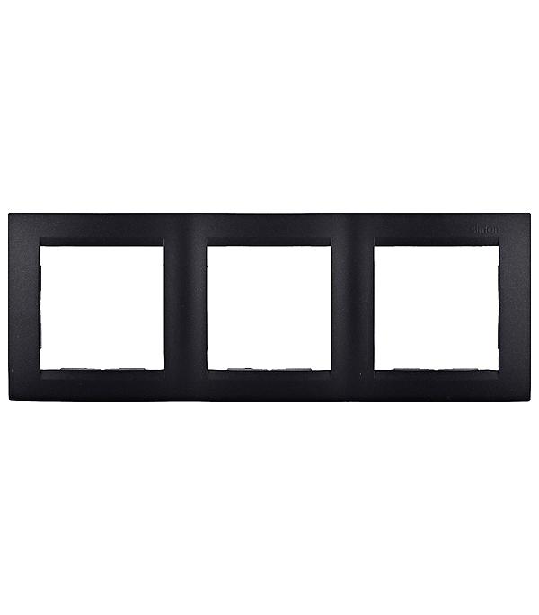 Рамка Simon 15 1500630-038 трехместная универсальная графит рамка simon 15 1500630 038 трехместная универсальная графит