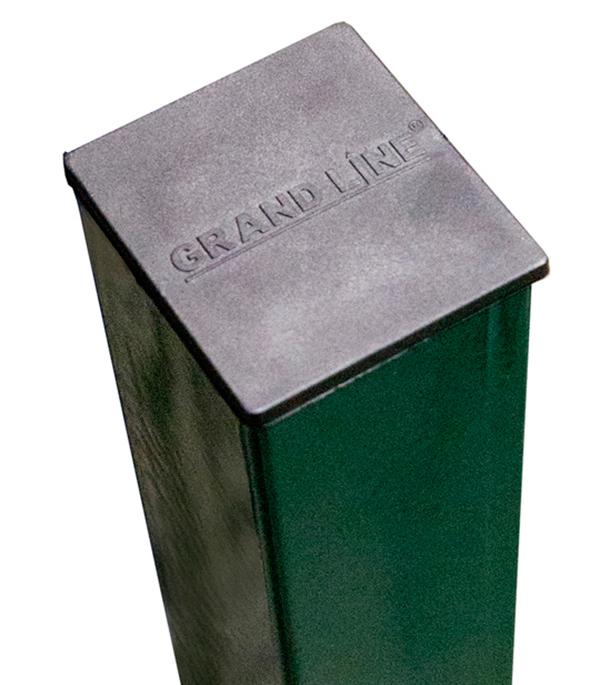 Столб заборный 62х55 мм h2500 мм 4 отверстия цвет зеленый RAL 6005 цена