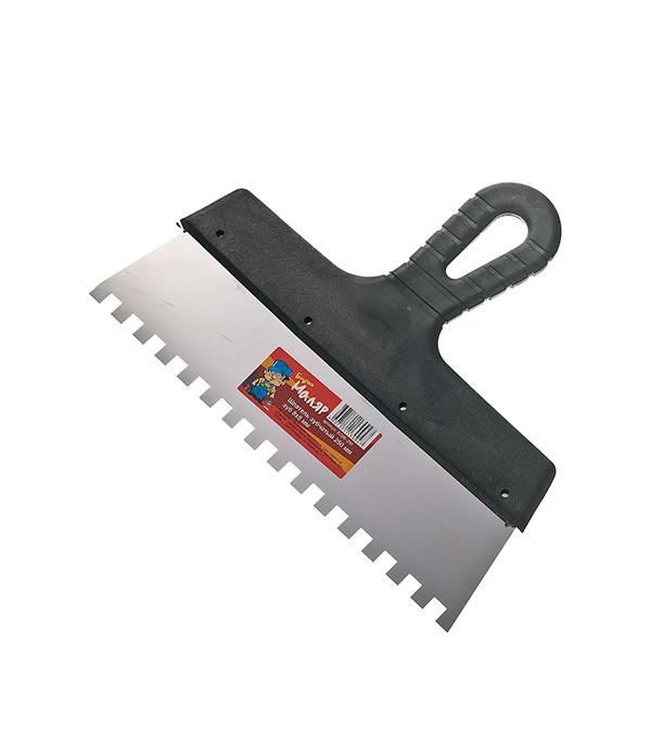 Зубчатый шпатель 250х8 мм цена