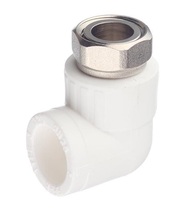 Угол полипропиленовый с накидной гайкой РТП 20х1/2