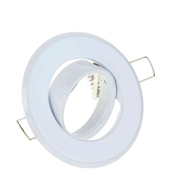 Светильник встраиваемый для лампы MR16 90мм поворотный белый