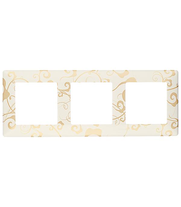 Рамка трехместная универсальная Legrand Valena LIFE ампир белый рамка 4 постовая legrand valena life алюминий 754134