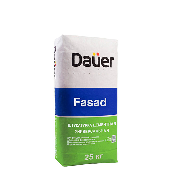 цена на Штукатурка цементная армированная DAUER FASAD 25 кг